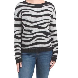 Christian Siriano Zebra Print Knit Sweater